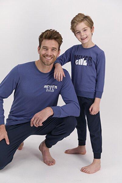 Arnetta Erkek Uzun Kol Yazı Baskılı Pijama Takımı (baba Oğul Kombin Yapılabilir Fiyatları Farklıdır)