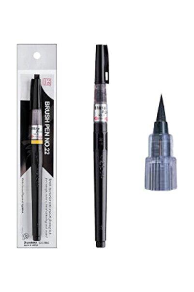 Zig Mangaka Brush Pen Doldurulabilir Fırça Uçlu Kalem No:22