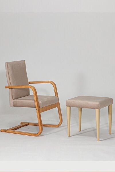 SANDALİE Konfor Sallanır Sandalye / Krem Dinlenme Kitap Okuma Tv Koltuğu Sallanan Sandalye