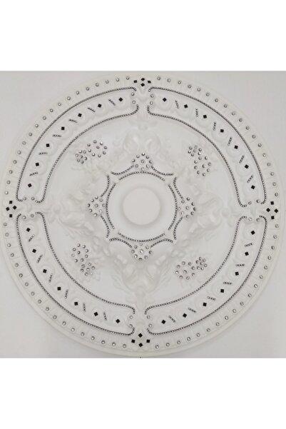 yeditepe osmanlı Siyah Taşlı Güneş Desenli Stropiyer Tavan Göbeği - 68 Cm