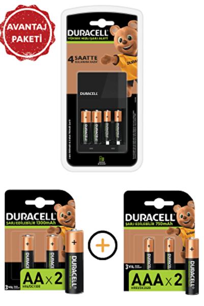Duracell Cef 14 Pilli Şarj Cihazı Ve Şarj Edilebilir 4 Adet 750 Mah Aaa Ve 4 Adet 1300 Mah Aa Paketi