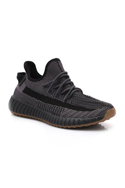 BLACK DEER Antrasit Füme Runner Ortopedik Yazlık Sneaker Ayakkabı