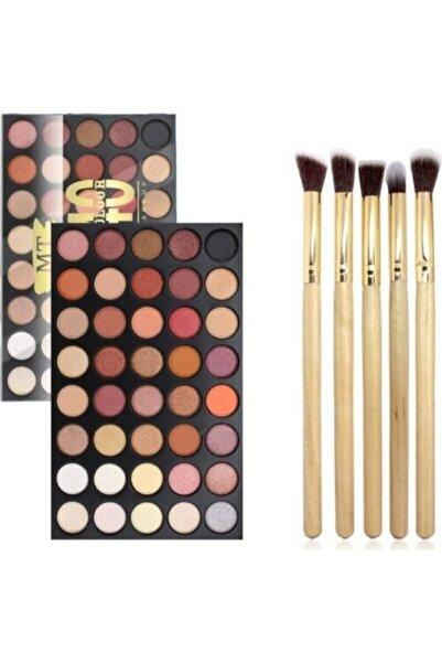 Makeuptime Aks 40'lı Renkli Göz Farı Palet Aks Far Fırçası