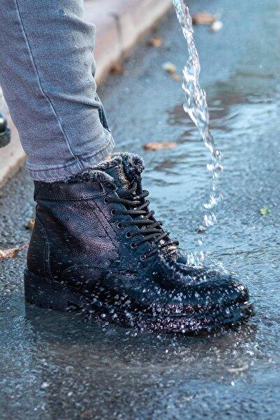 MelikaWalker Erkek Siyah Bot Ayakkabı
