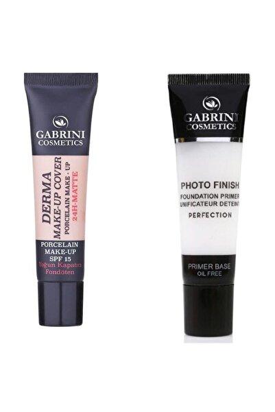 Gabrini Fondöten - Derma Make-up Cover Foundation 102 + Makyaj Bazı - Foto Finish Primer Base