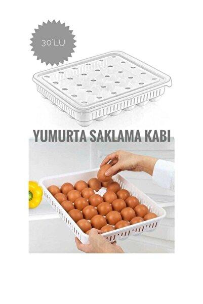 INNDREAM Yumurta Saklama Kabı Şeffaf 30 Bölmeli Buzdolabı Için Yumurtalık Ergonomik Yapıda Kapaklı