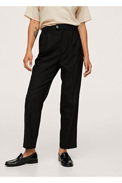 MANGO Woman Pilili Takım Pantolonu