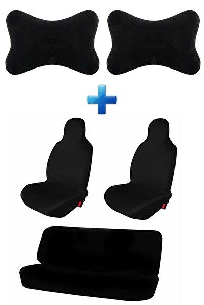 Mesear Suzuki Grand Vitara Oto Koltuk Servis Kılıfı Atlet Kılıf Seti Logosuz Araba Siyah Yastık 2 Adet