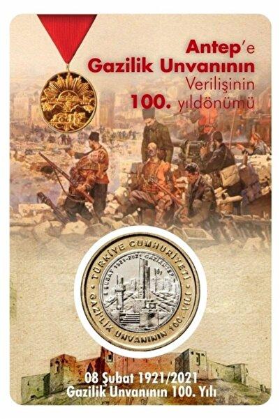 Benim Koleksiyonum Gaziantep'e Gazilik Unvanının 100.yılı (tedavül) Hatıra Parası