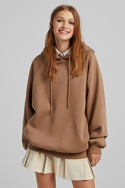 Bershka Kapüşonlu Oversize Sweatshirt