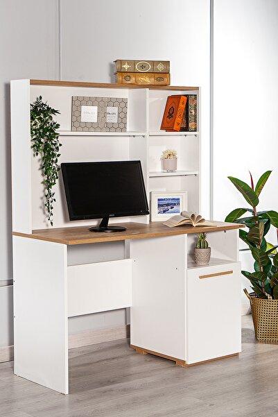 SANDALİE 50x110 cm Çalışma Masası Bilgisayar Masası Ofis Ders Yemek Masası Beyaz