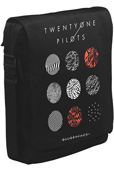 Lord T-Shirt Twenty One Pilots - Blurryface Unisex Siyah Postacı Çanta