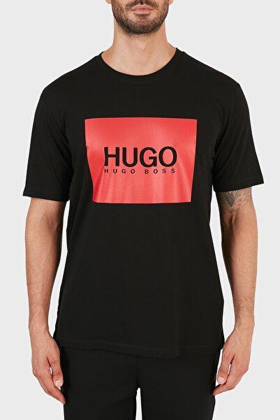 Hugo Boss Regular Fit Baskılı Bisiklet Yaka % 100 Pamuk T Shirt Erkek T Shirt 50456378 001