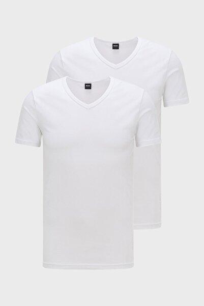 Hugo Boss Slim Fit V Yaka 2 Pack T Shirt Erkek T Shirt 50325408 100