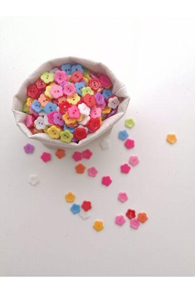 Sihirlihalka 50 Adet Amigurumi Çiçek Düğme (10 Renk)