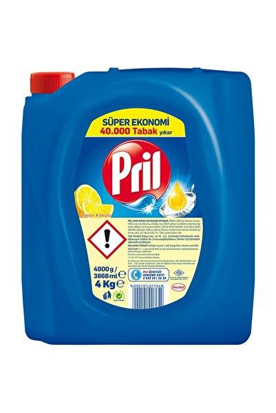Pril Elde Bulaşık Deterjanı Üçlü Güç Limon 4 kg
