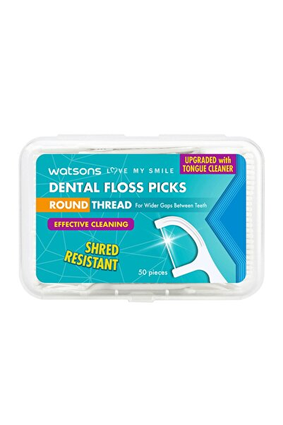 Watsons Round Thread Dental Floss Picks 50 Adet