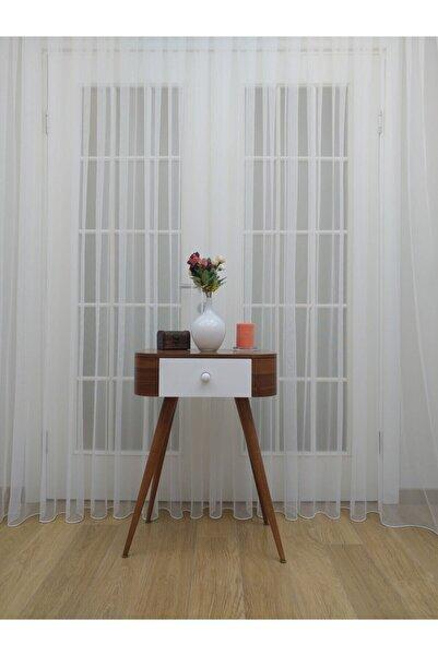Esse Home Grek Tül Perde - Petek Zemin, 550x250, Sık Pile, 1/3