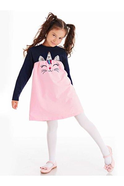 Denokids Payetli Catcorn Kız Elbise