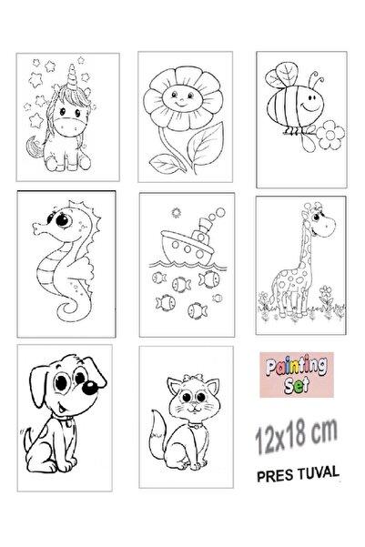 Dafina Yayıncılık Çocuklar Için Boyanabilir Tuval 12x18 Cm (8 ADET)