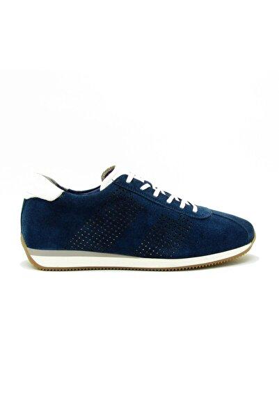 Uğur Mrcm6686 Mavi Süet Erkek Bağlı Casual Ayakkabı