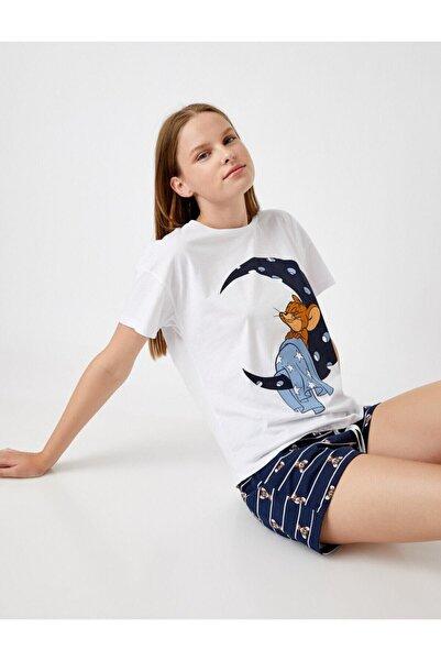 Koton Warner Bros Lisansli Sortlu Pijama Takimi Pamuklu