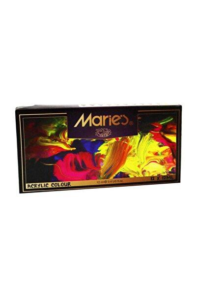 Maries 12 Renk Akrilik Boya 812b 12ml