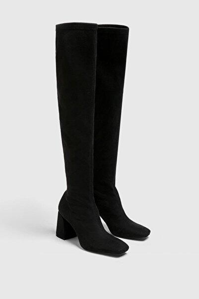 Pull & Bear Streç Yüksek Topuklu Çizme