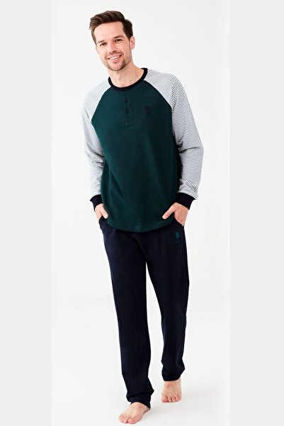 U.S. Polo Assn. Yeşil Erkek Pijama Takım