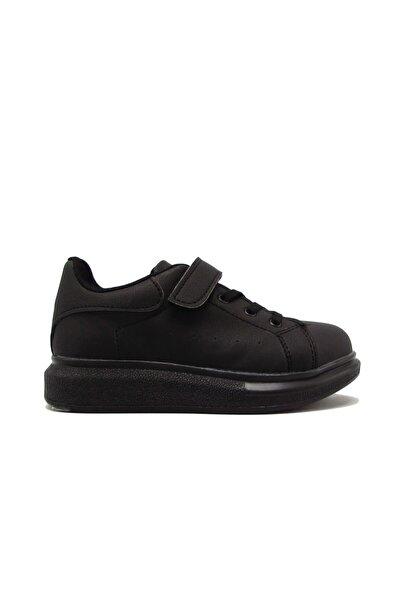 I COOL Cool Arsln-m202171f Siyah Unısex Çocuk Cırtlı Yüksek Taban Ayakkabı