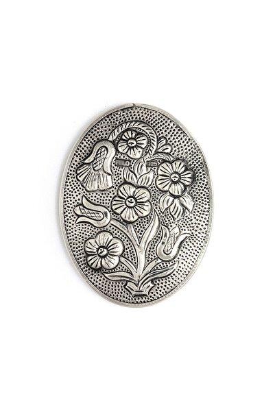 Altın Sepeti Payitaht Oval Gümüş Ayna