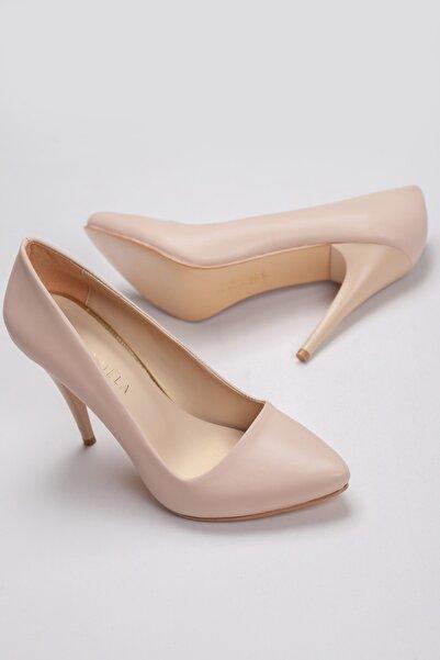 AYMELA Nude Bej Stiletto 10cm Ince Yüksek Topuklu Kadın Ayakkabısı
