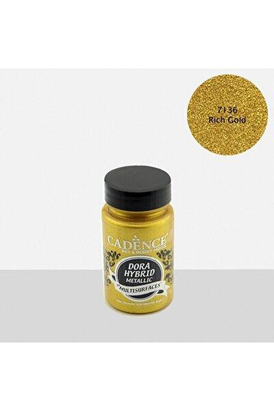 Cadence Dora Hibrit Metalik Multisurface Akrilik Boya 90 Ml 7136 Rich Gold