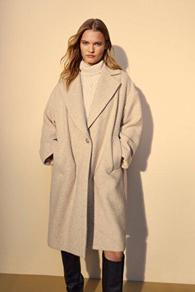 Massimo Dutti Kadın Tek Düğme Yün Ceket 06461699