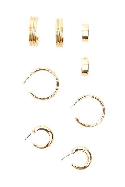 Stradivarius 4'lü Halka Küpe Seti