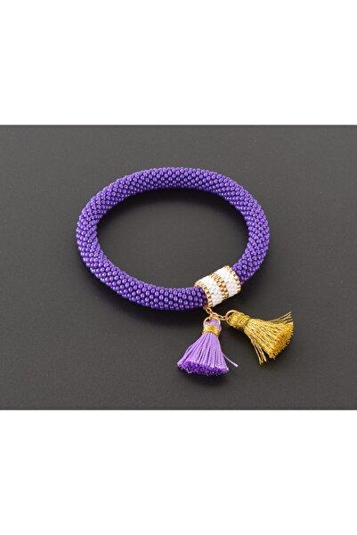 Loona Dsgn Miyuki Purple Bileklik