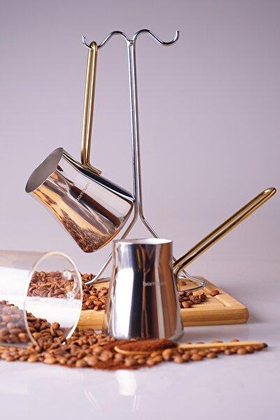 Bambum Thales - 2'li Çelik Cezve Seti Gold