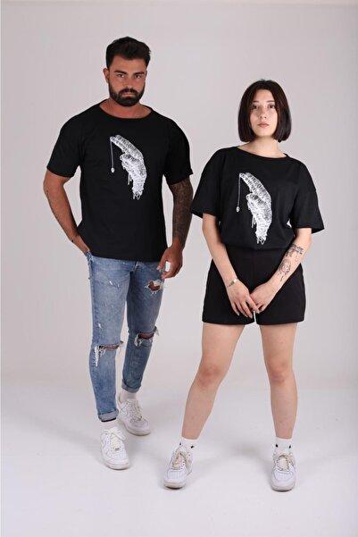 ASL Baskılı Siyah T-shirt Unisex