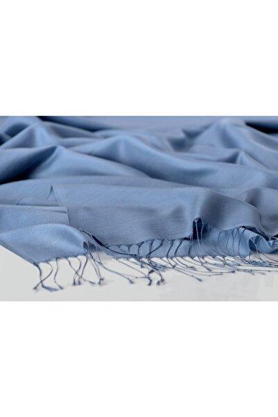 KROREN Ipek Görünümlü Şal - Kot Mavisi Renk