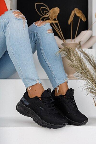 MORENİCA Yeni Sezon Ortopedik Siyah Kadın Sneaker