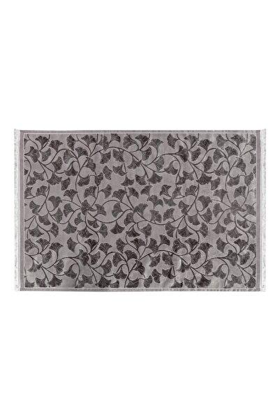 English Home Velvet Ginkgo Kadife Halı 160x230 Cm Gri