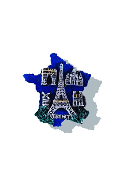 Tumbled Workshop Fransa Paris Magnet Buzdolabı Süsü Hediyelik Dekoratif Eşya