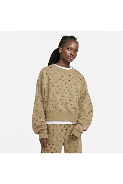 Nike Women's Fleece Printed Crew Sportswear