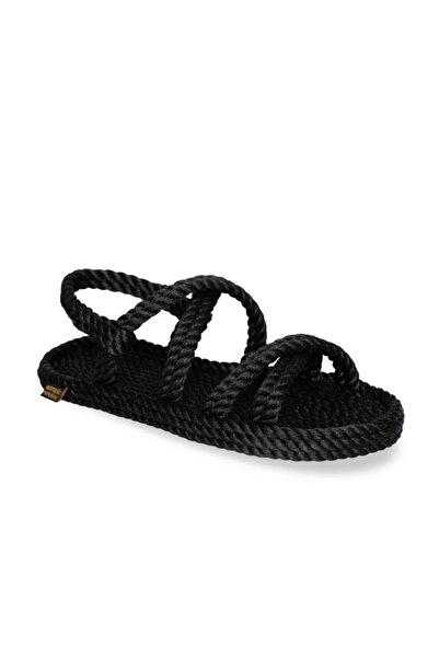 Nomadic Republic Tahiti Kadın Halat Sandalet - Siyah