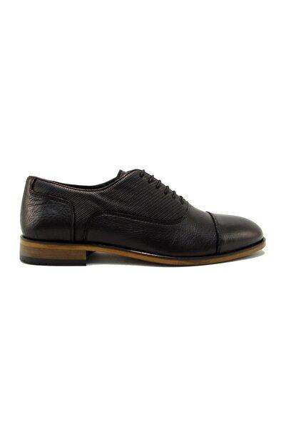 Uğur Mrcm10276 Siyah Flotter Erkek Çiftyüz Baskılı Bağlı Ayakkabı