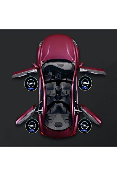 Waxen Opel Kapı Altı Pilli Led Logo Hd Lens Karanlık Ve Mesafe Sensörlü Led Işıklı Lamba