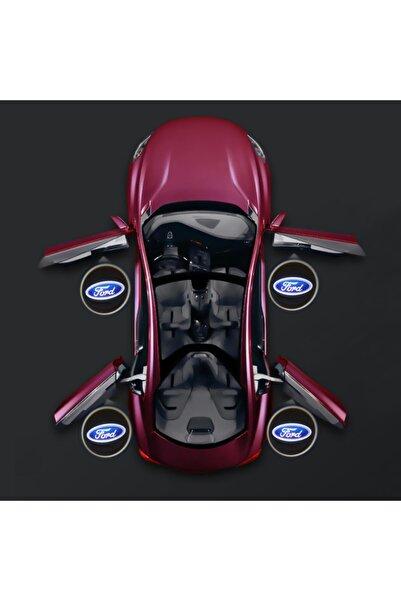 Waxen Ford Kapı Altı Pilli Led Logo Hd Lens Karanlık Ve Mesafe Sensörlü Led Işıklı Lamba