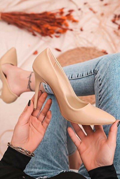 Sıraç Ayakkabı Nude Stiletto Ince Topuklu Ayakkabı