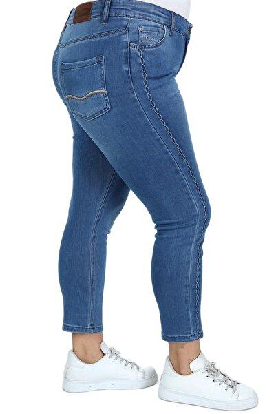 Hanezza Kadın Bilek Boy Yan Detay Kot Pantolon