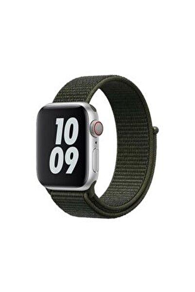 Apple Watch 2 3 4 5 6 Se Uyumlu 38 Mm Ve 40 Mm Için Dokuma Kordon Kayış - Haki